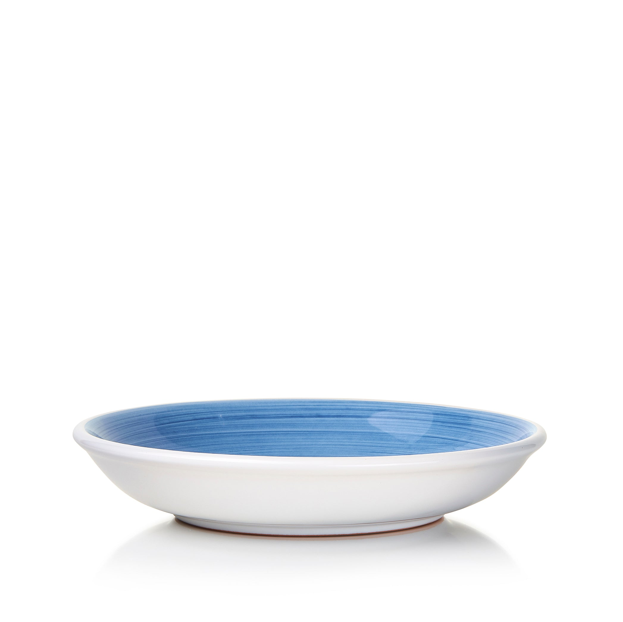 S&B 'Brushed' Ceramic Pasta Bowl in Light Blue, 22cm