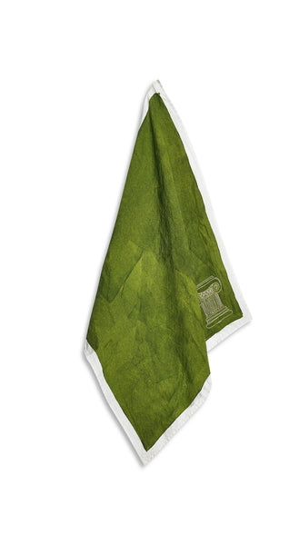 'Ionic Column' S&B x Luke Edward Hall Linen Napkin in Avocado Green