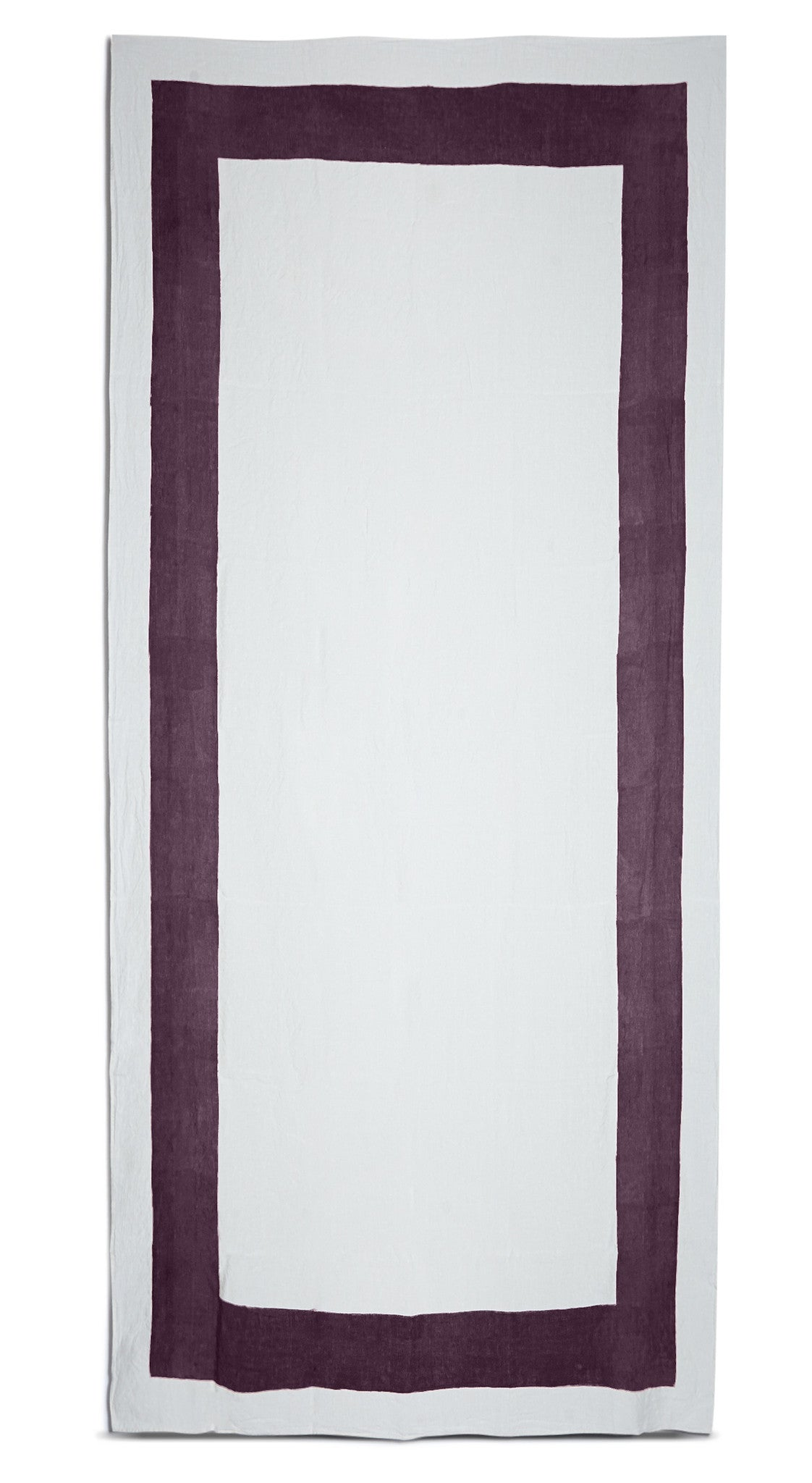 Cornice Linen Tablecloth in Grape Purple