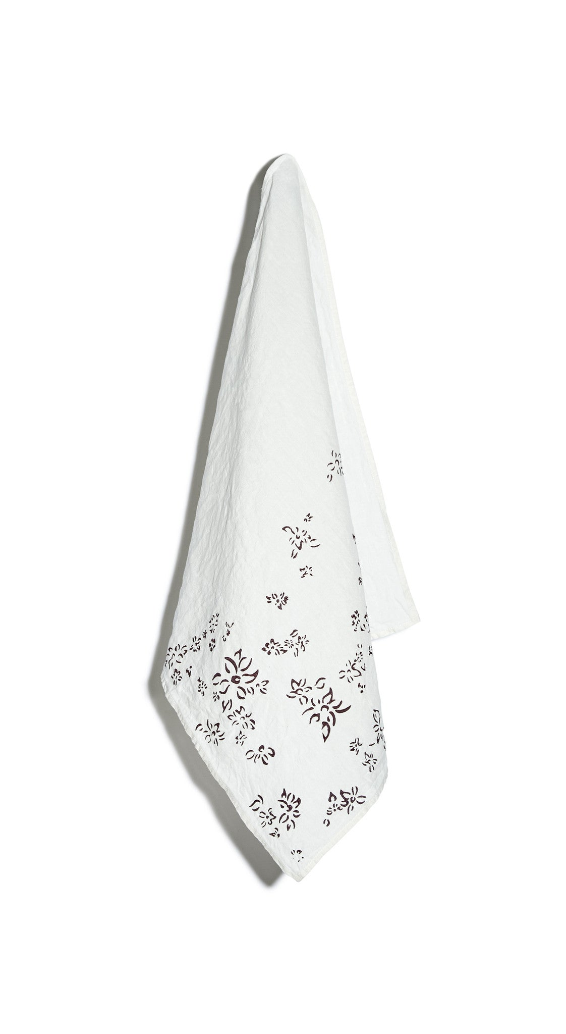 Bernadette's Falling Flower Linen Napkin in Grape Purple