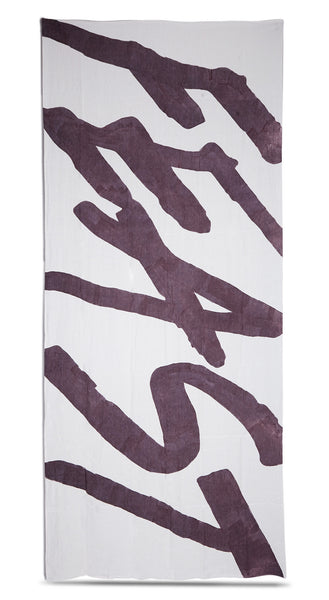 Feast Linen Tablecloth in Grape Purple