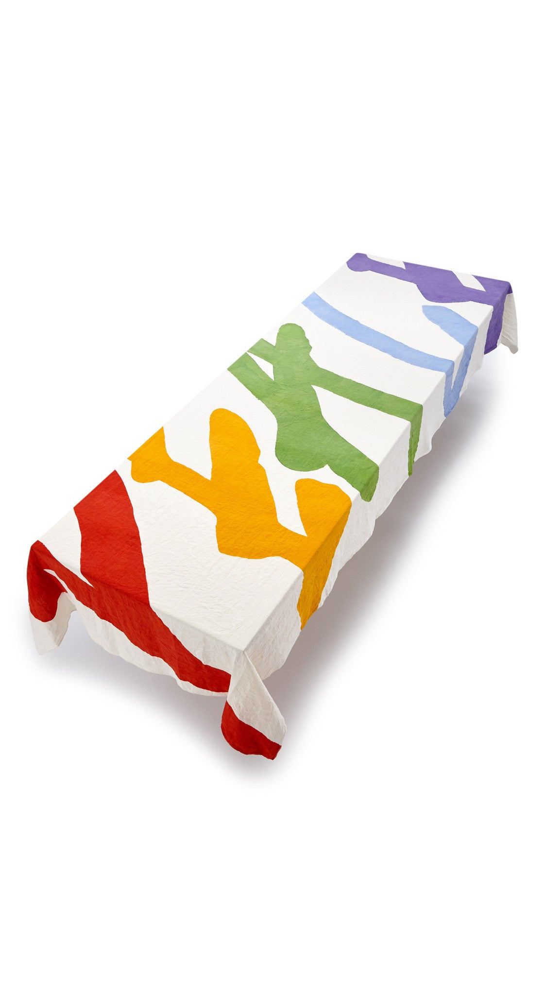 Peace Word Linen Tablecloth in Multicolours