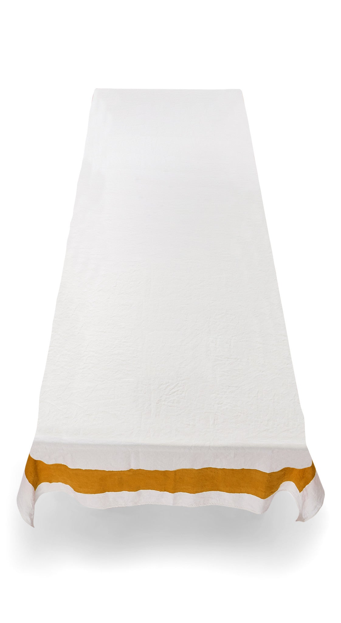 Cornice Linen Tablecloth in Mustard Yellow