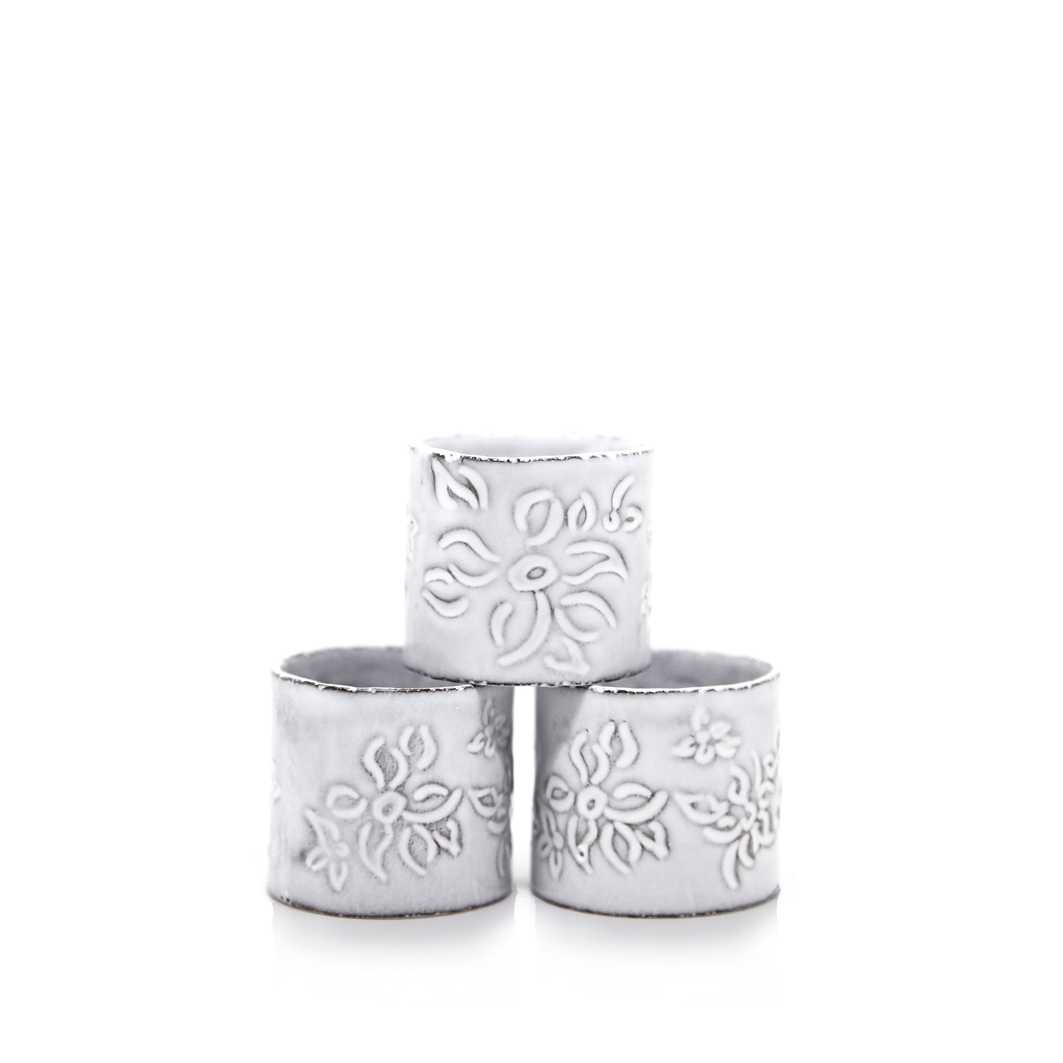 Astier de Villatte x Summerill & Bishop Napkin Ring with Falling Flower