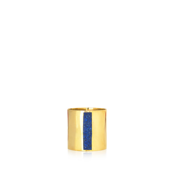 S&B x Pippa Small Lapis Inlaid Napkin Ring, Vertical Double Stripe