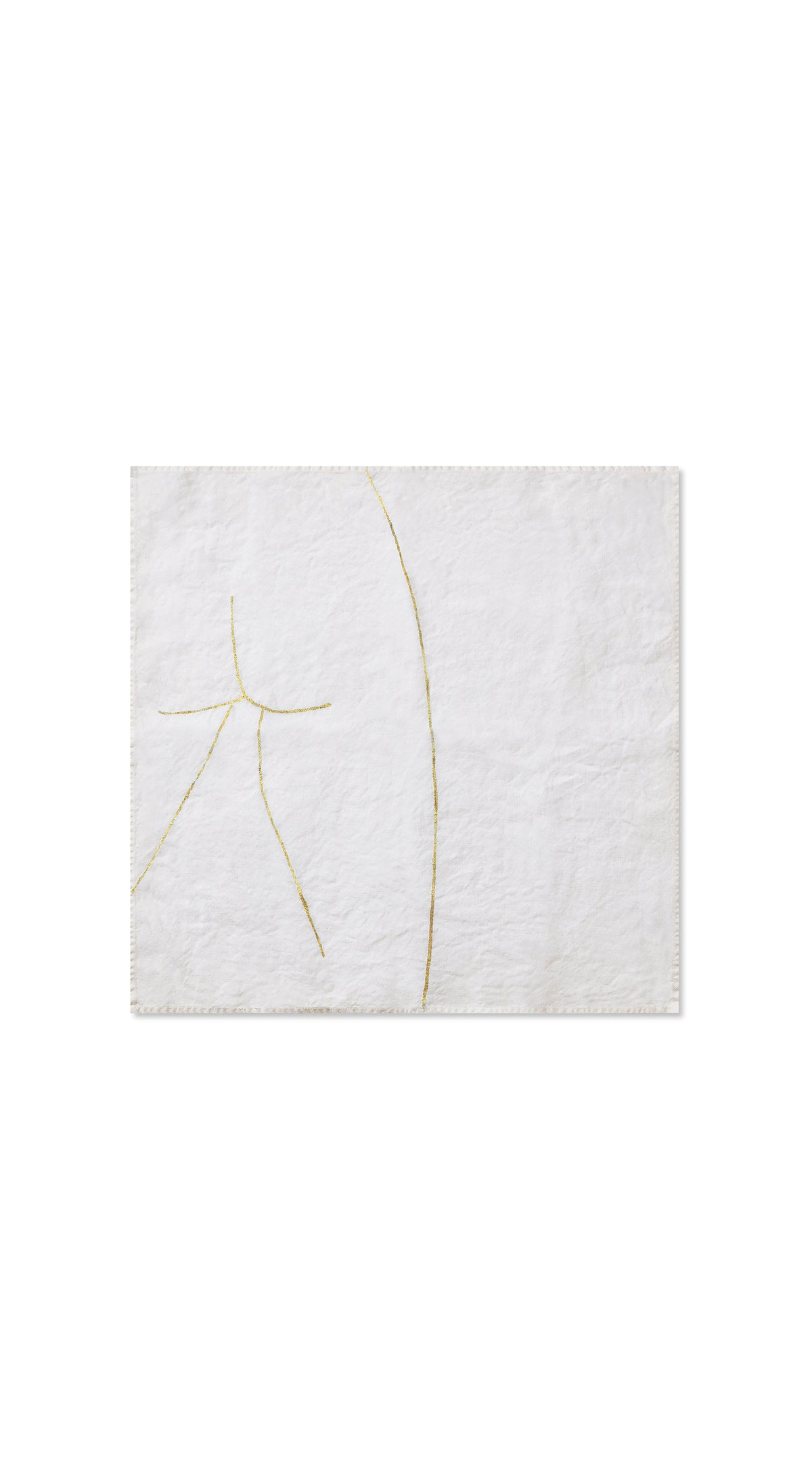 "Nude Linen Napkin ""Male One"" in Gold"