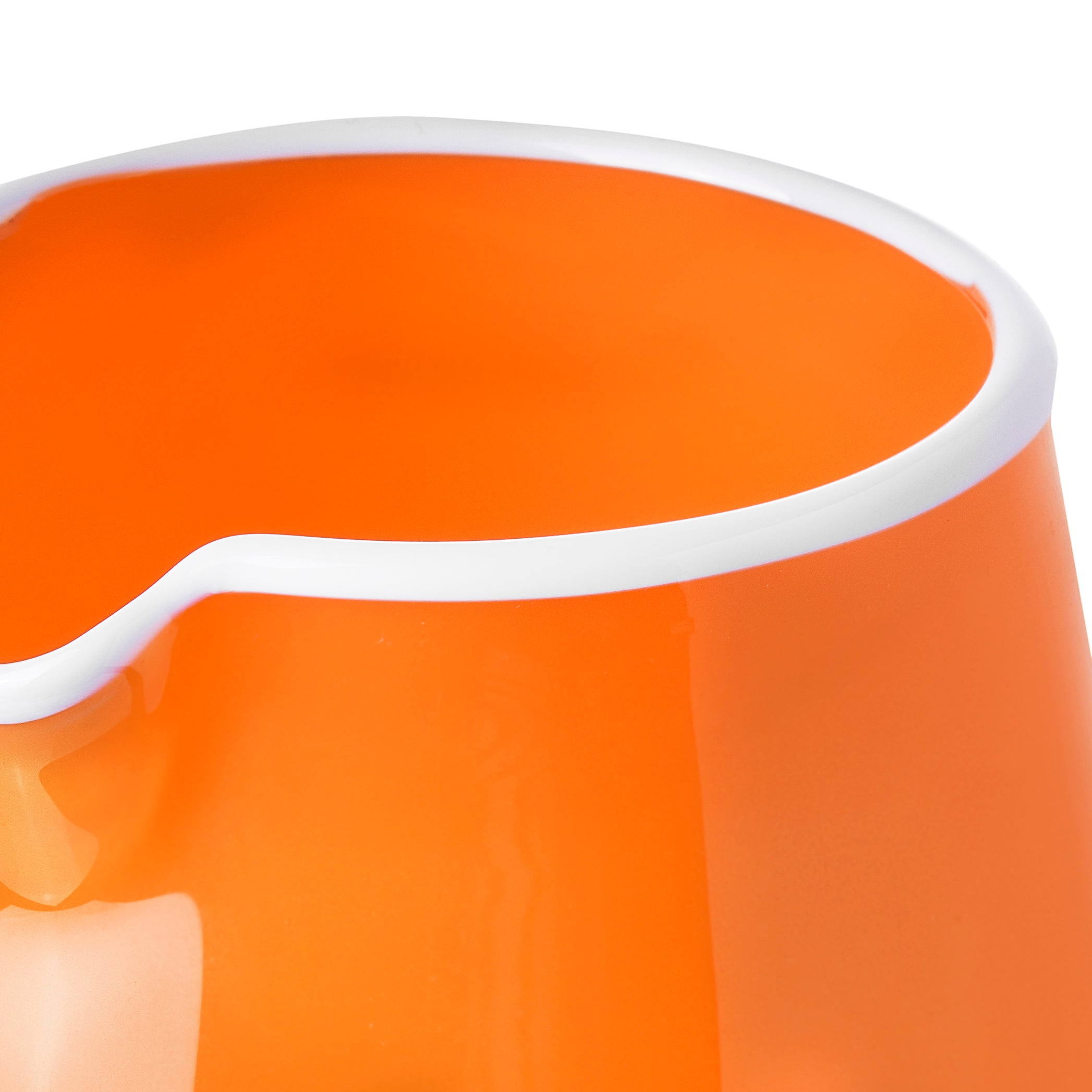 Handblown Bumba Jug in Orange