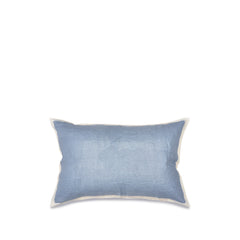 Hand Painted Linen Cushion in Pale Blue, 60cm x 40cm