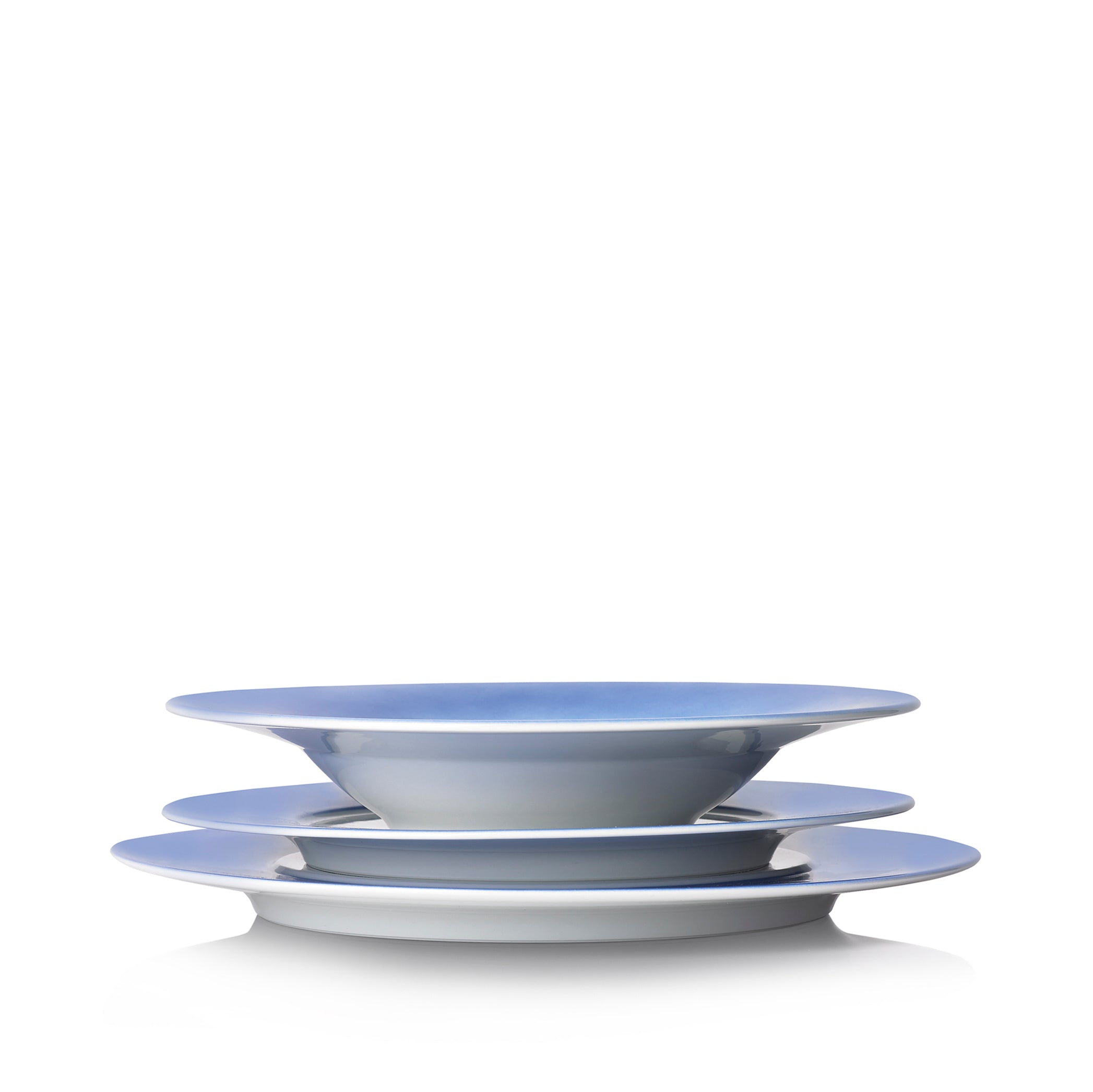 S&B 28cm Porcelain Pasta Bowl with Blue Edge