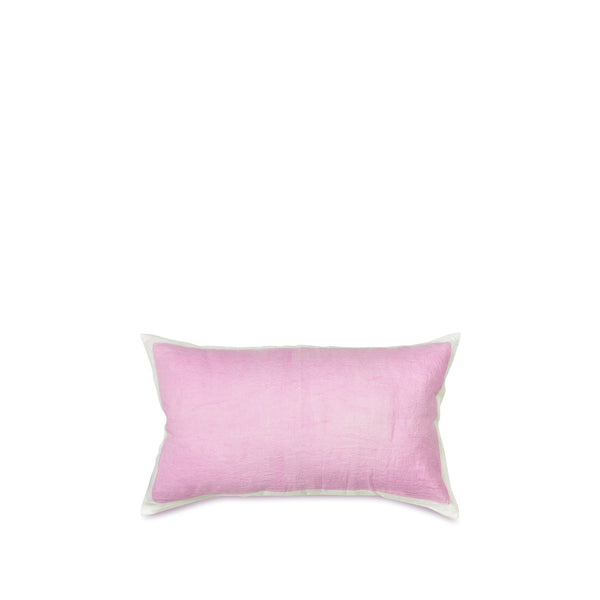 Hand Painted Linen Cushion Cover in Pale Pink, 50cm x 30cm