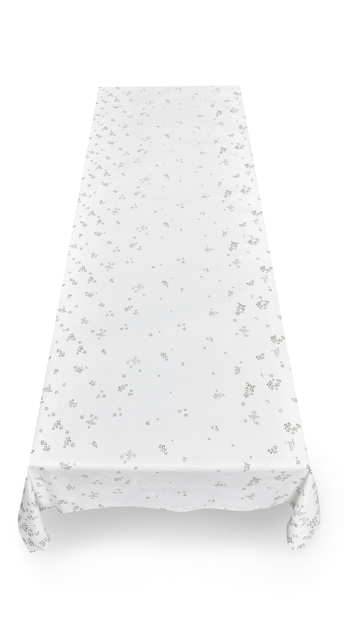 S&B Falling Flower Paper Tablecloth in Avocado Green