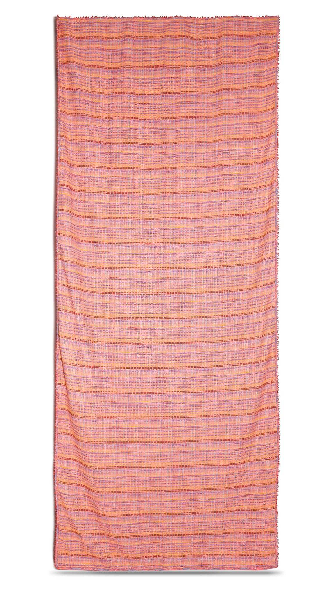 Pâte de Fruits Woven Tweed Tablecloth in Orange & Purple