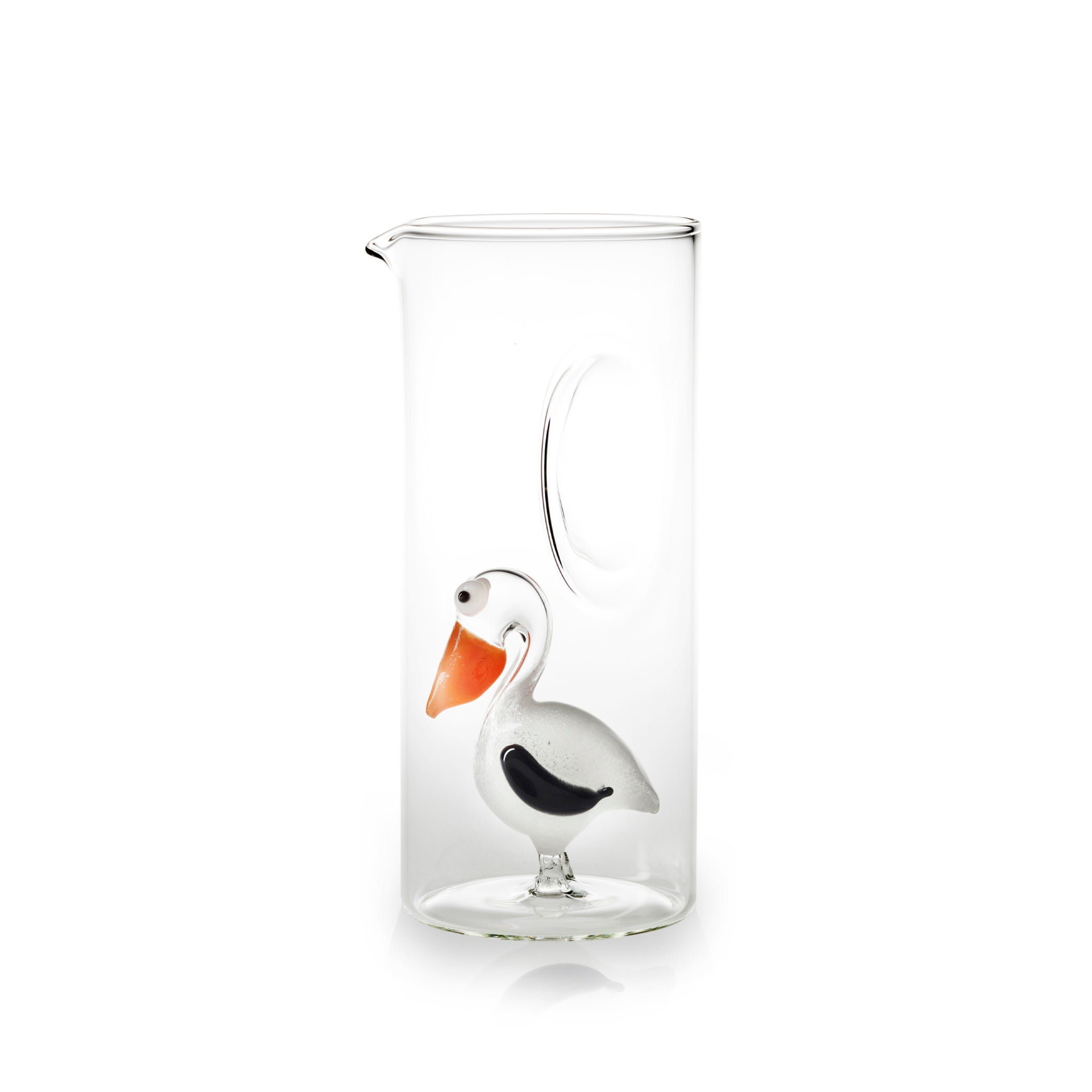 Handblown Glass Pelican Carafe