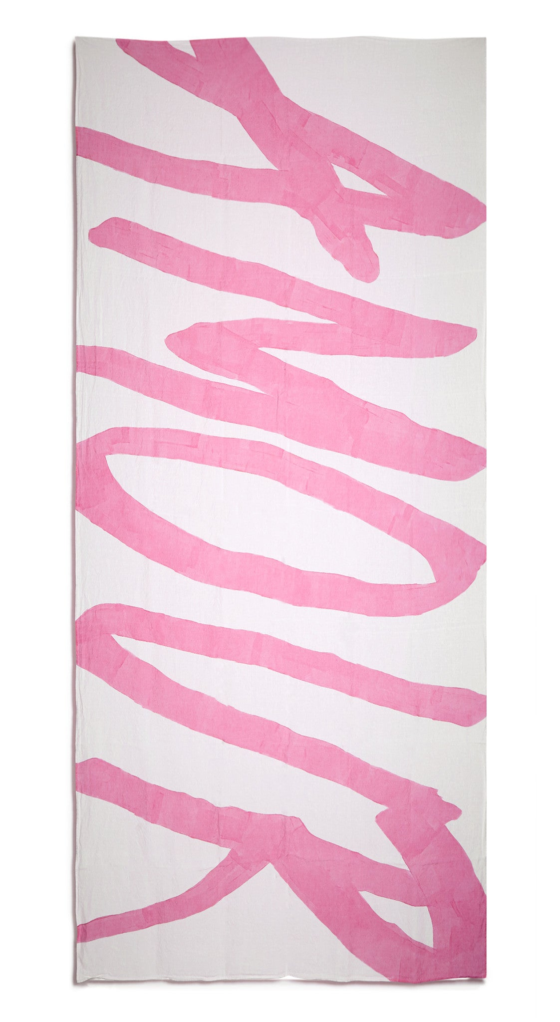 Amour Word Linen Tablecloth in Rose Pink