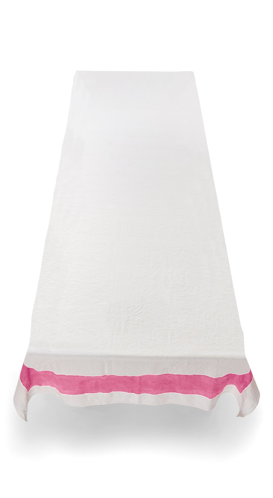 Cornice Linen Tablecloth in Rose Pink