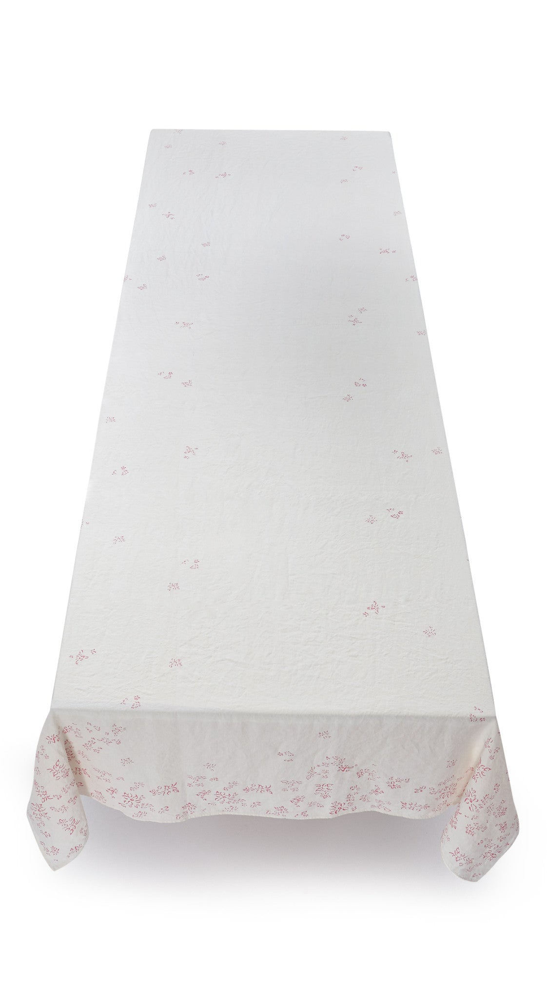 Bernadette's Falling Flower Linen Tablecloth in Rose Pink