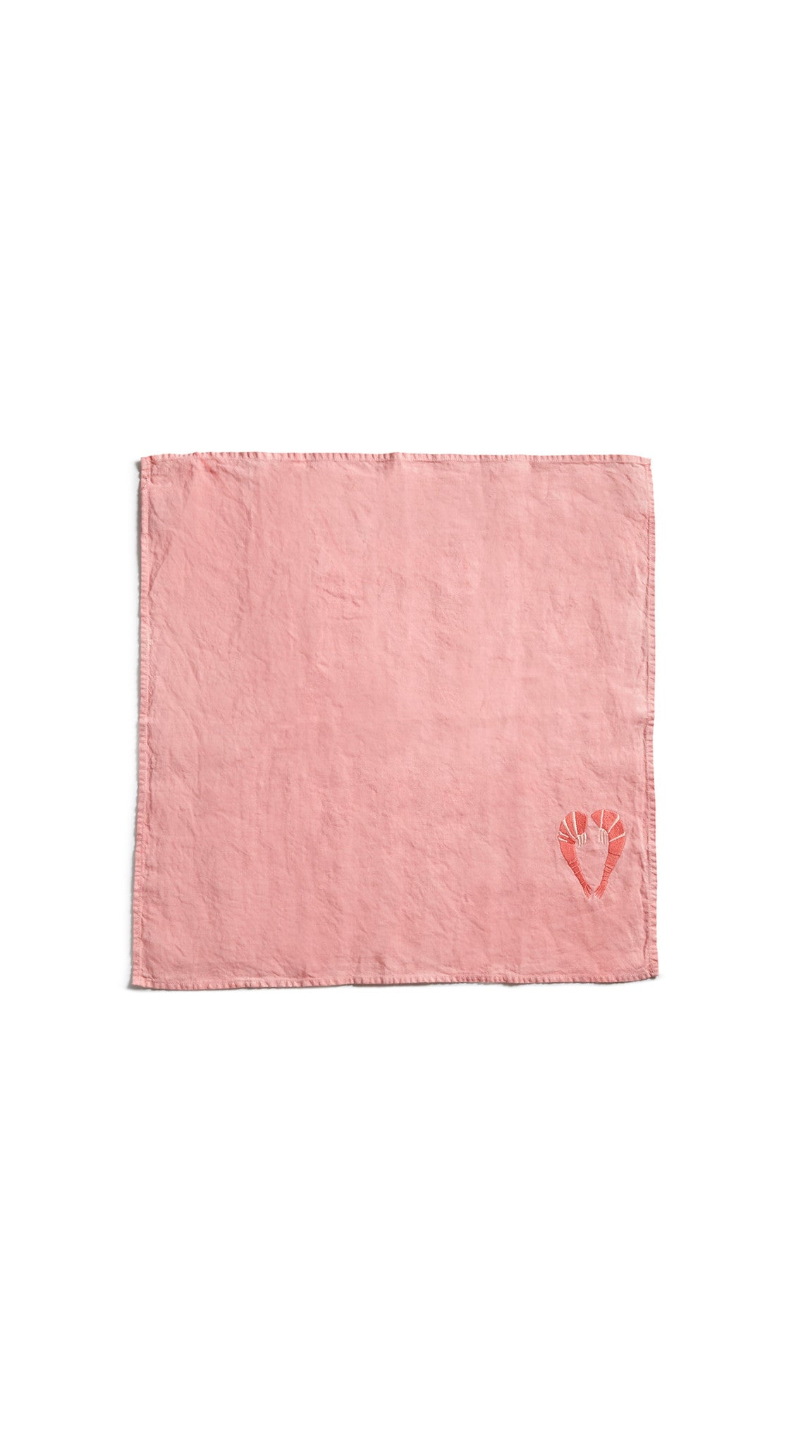 S&B x Shrimps Napkin in Powder Pink