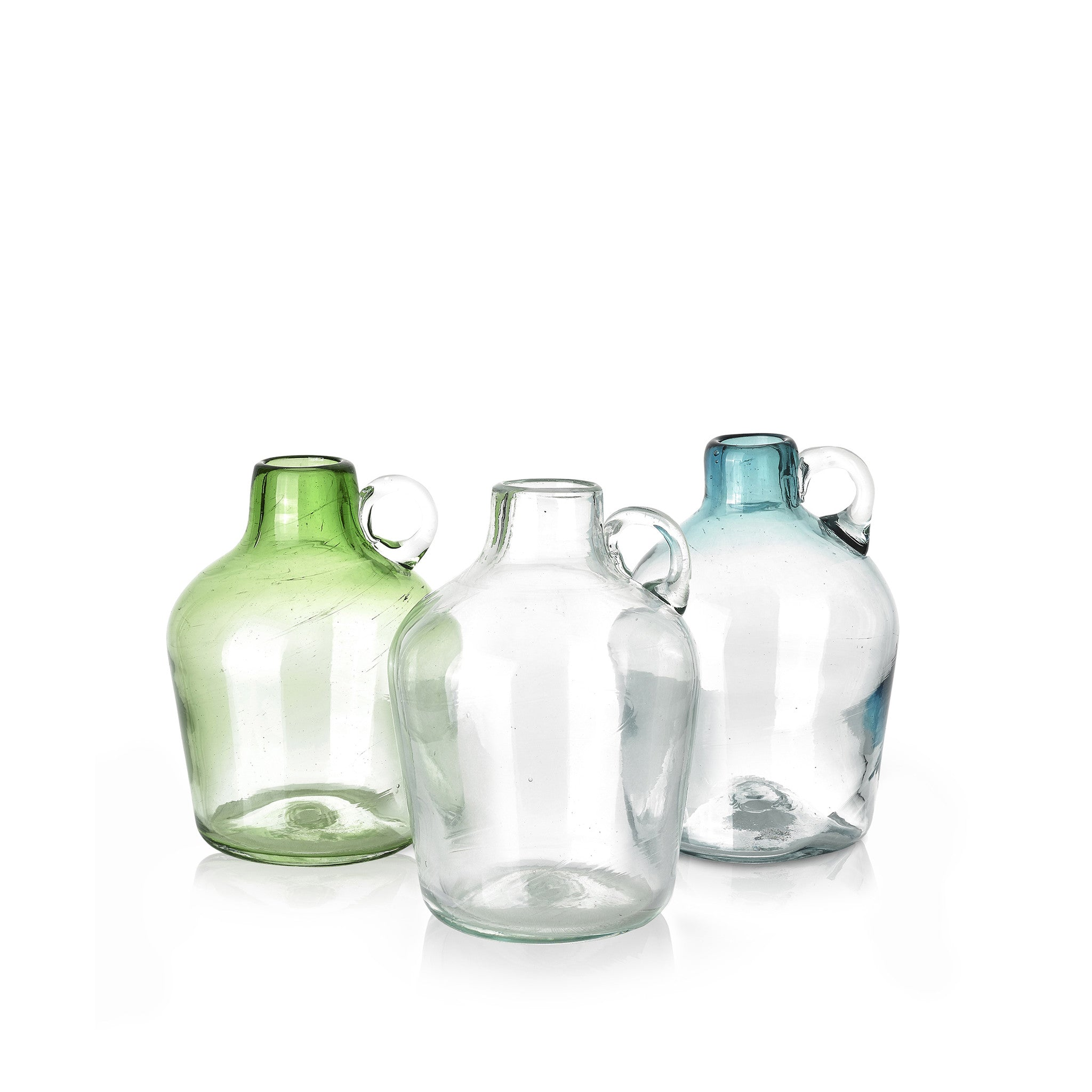 Handblown Glass Pitcher in Clear, 18cm