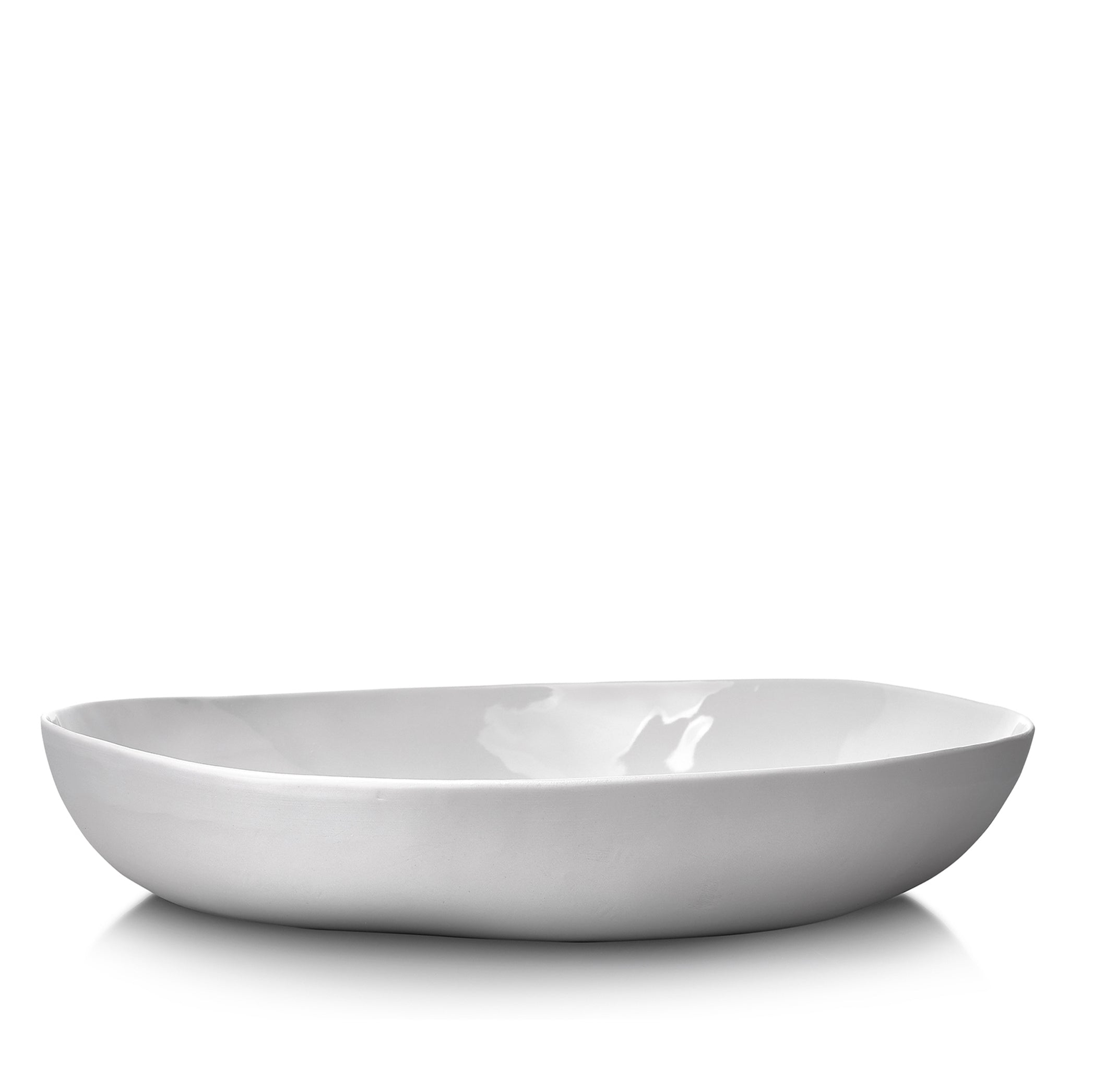 S&B Handmade 35cm Porcelain Salad Bowl with Plain Rim