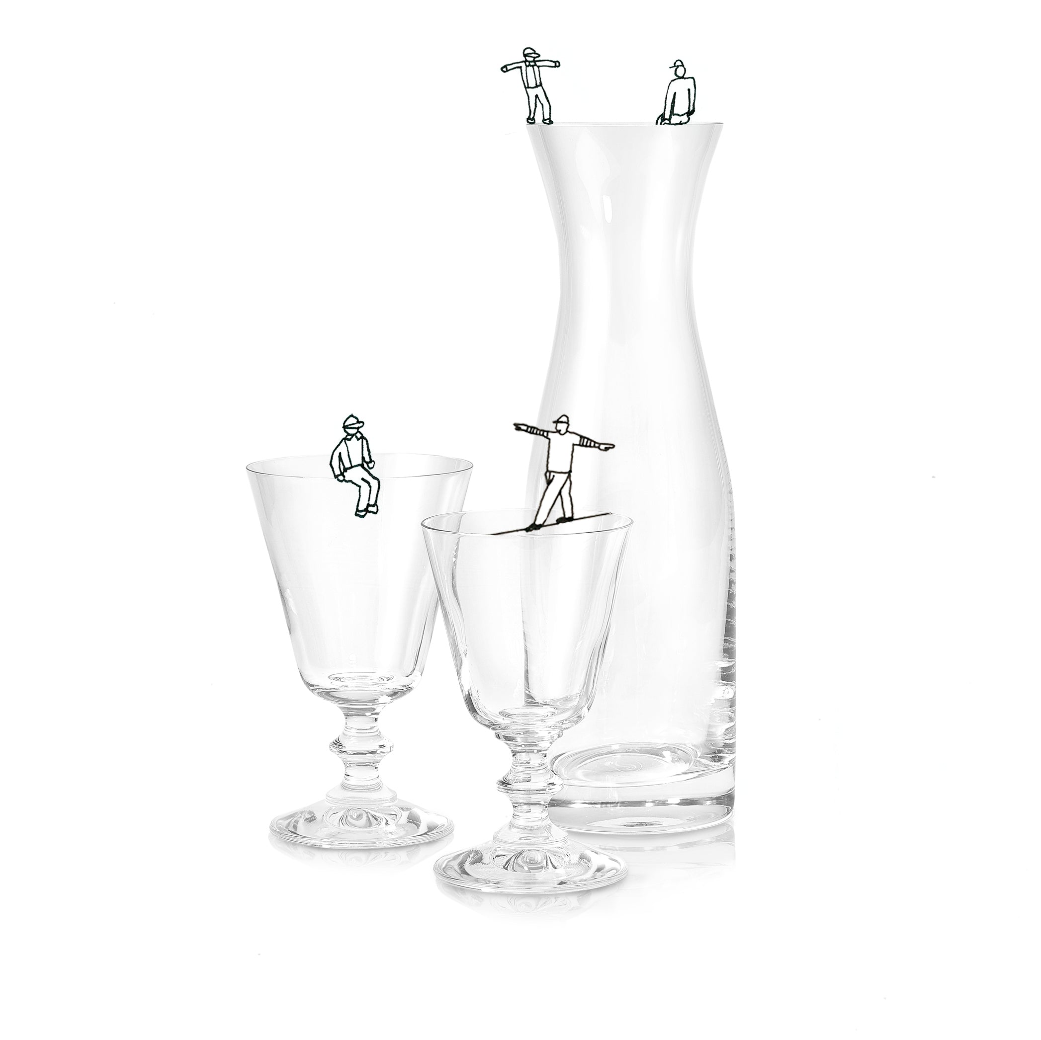 S&B Glass Water Carafe with Plain Rim