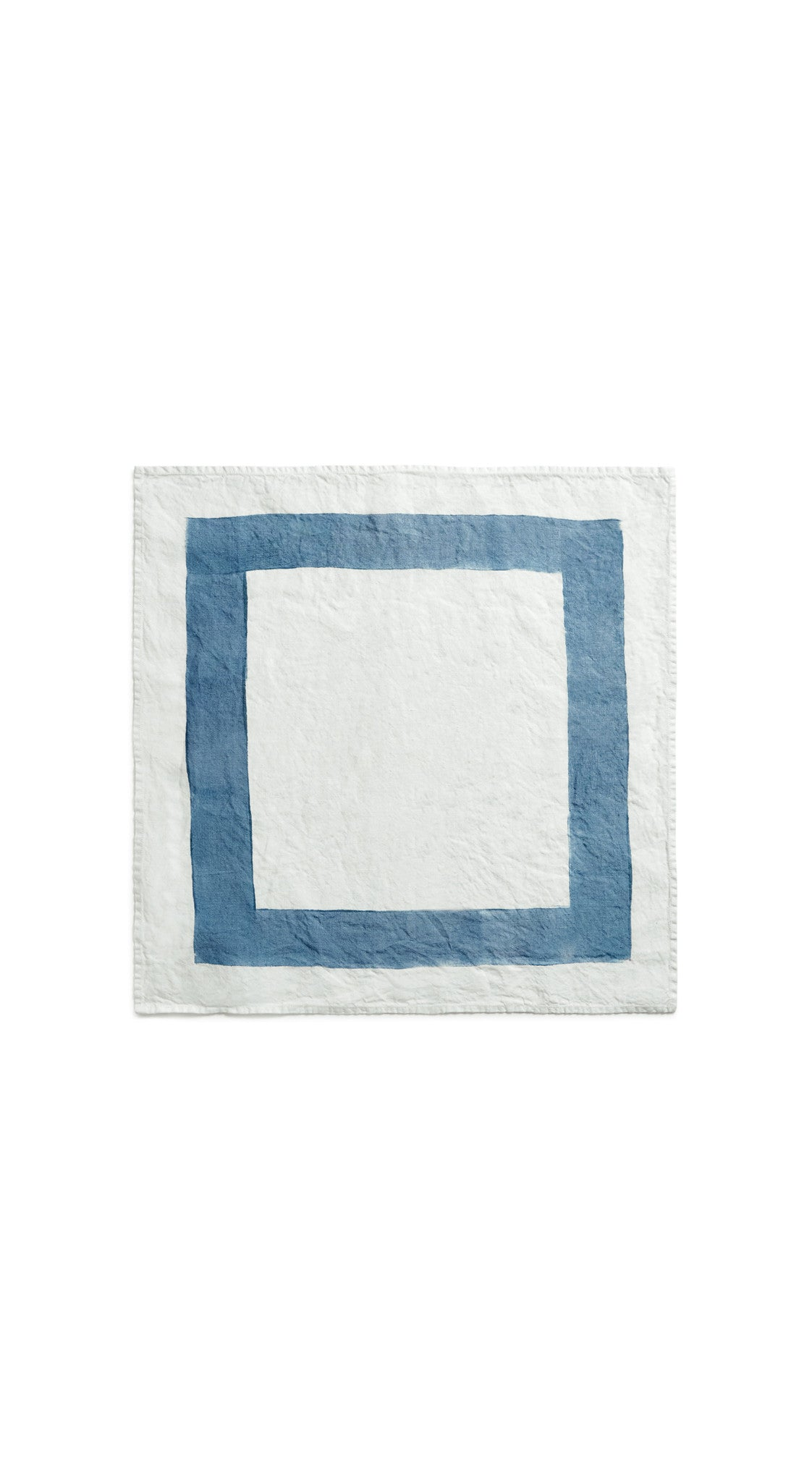 Cornice Linen Napkin in Powder Blue