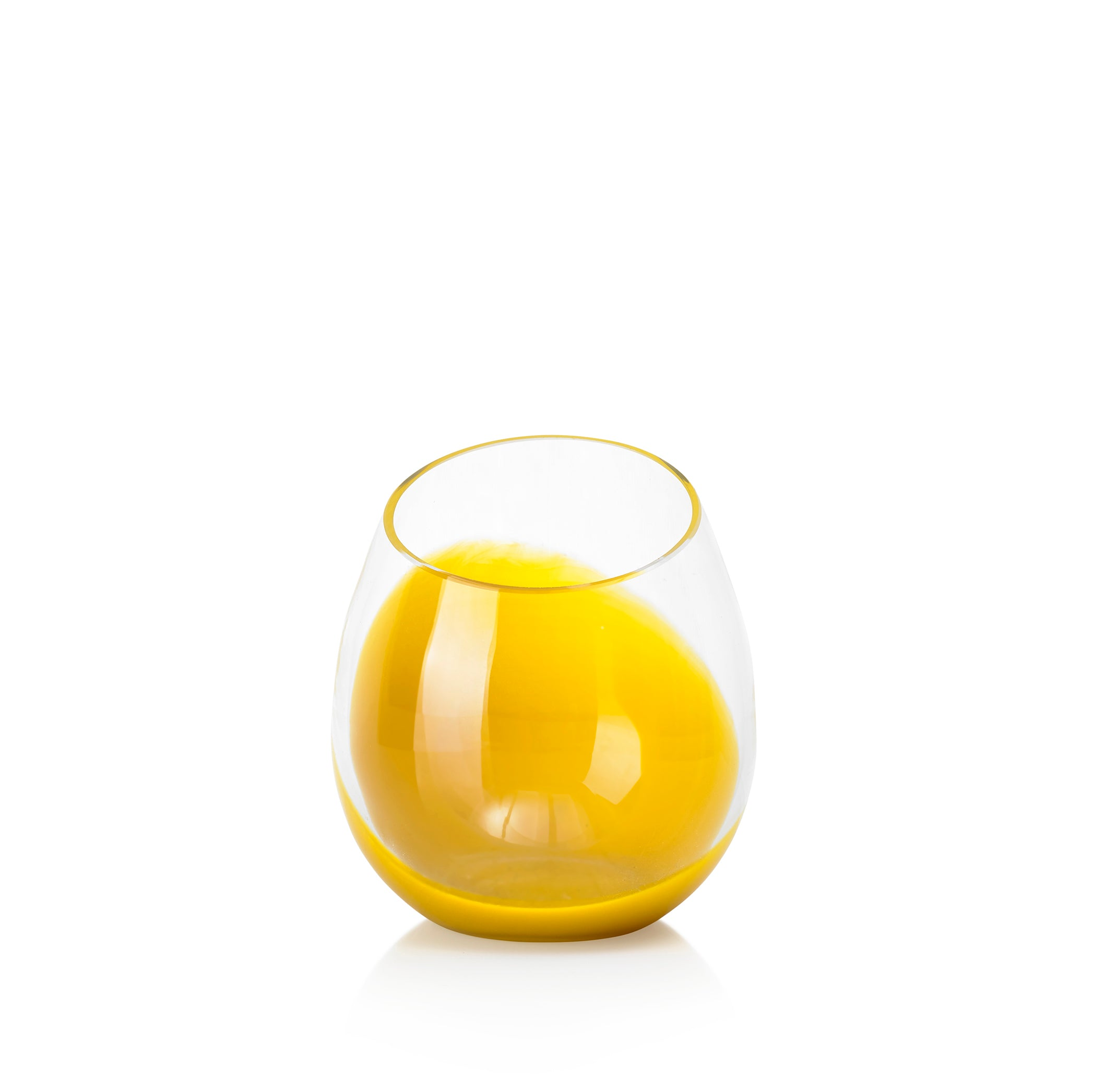Set of Six Handblown 'Fila' Glass Tumblers, Designed by Karim Rashid in Yellow