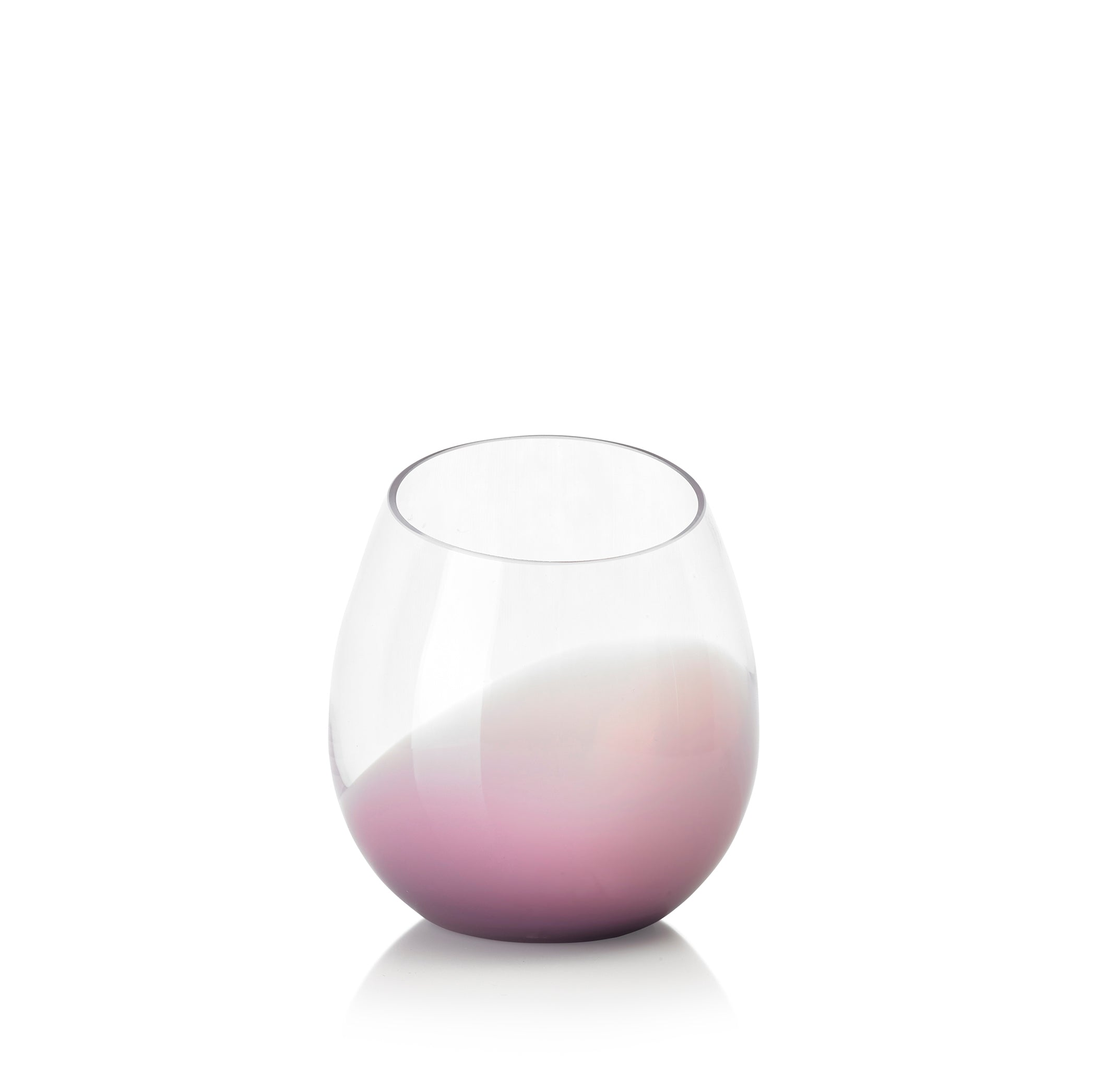 Set of Six Handblown 'Fila' Glass Tumblers, Designed by Karim Rashid in Lilac