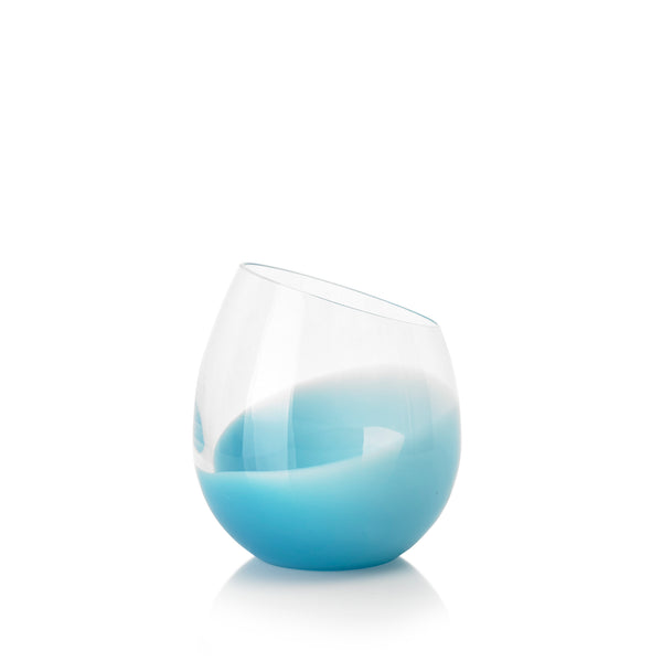 Set of Six Handblown 'Fila' Glass Tumblers, Designed by Karim Rashid in Blue