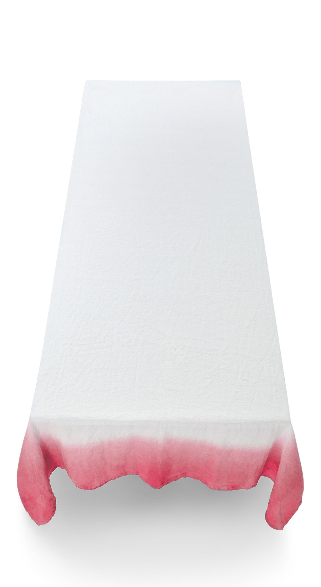 Fade Linen Tablecloth in Dark Pink