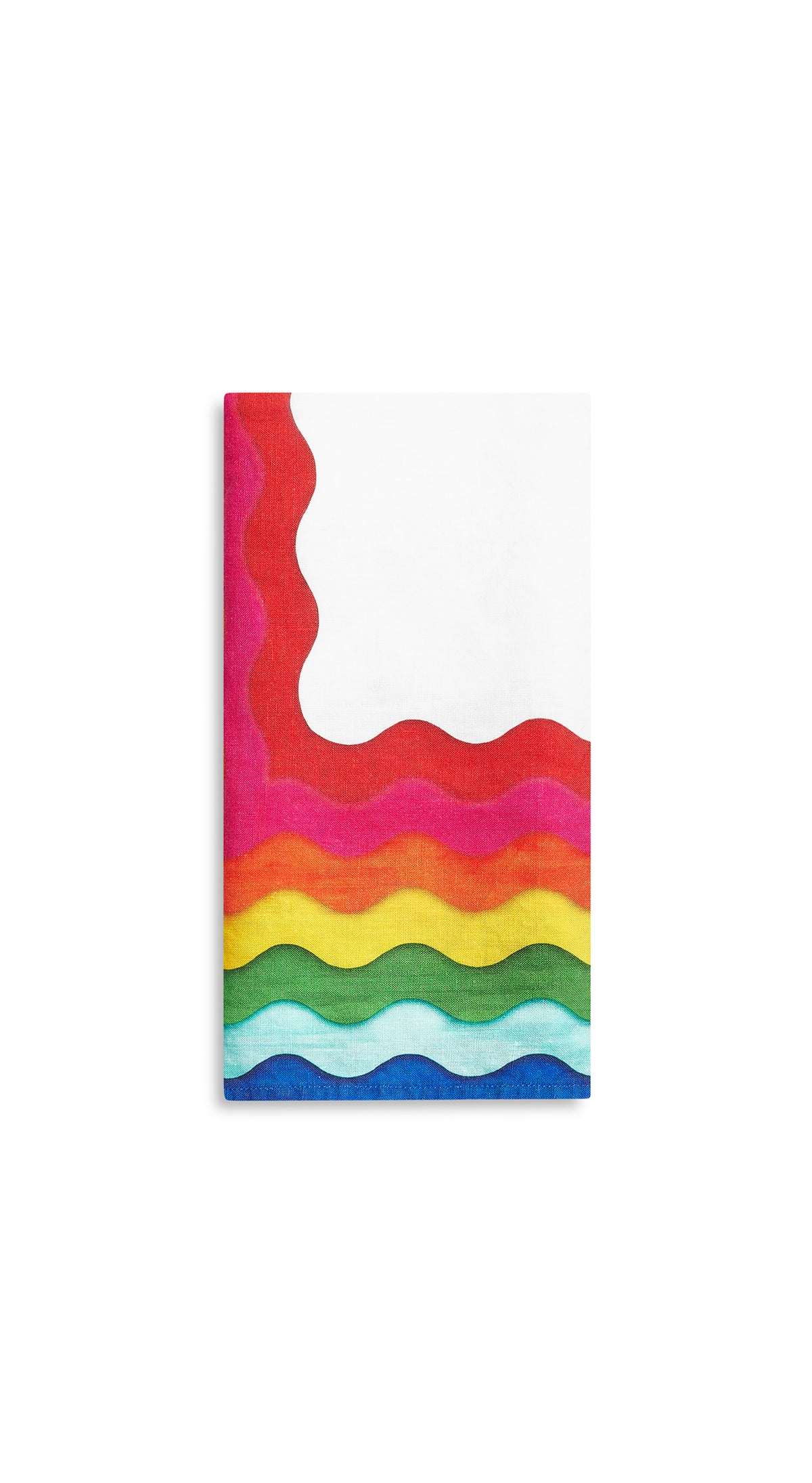 Summer Rainbow Linen Napkins in Multicolours, Set of Two