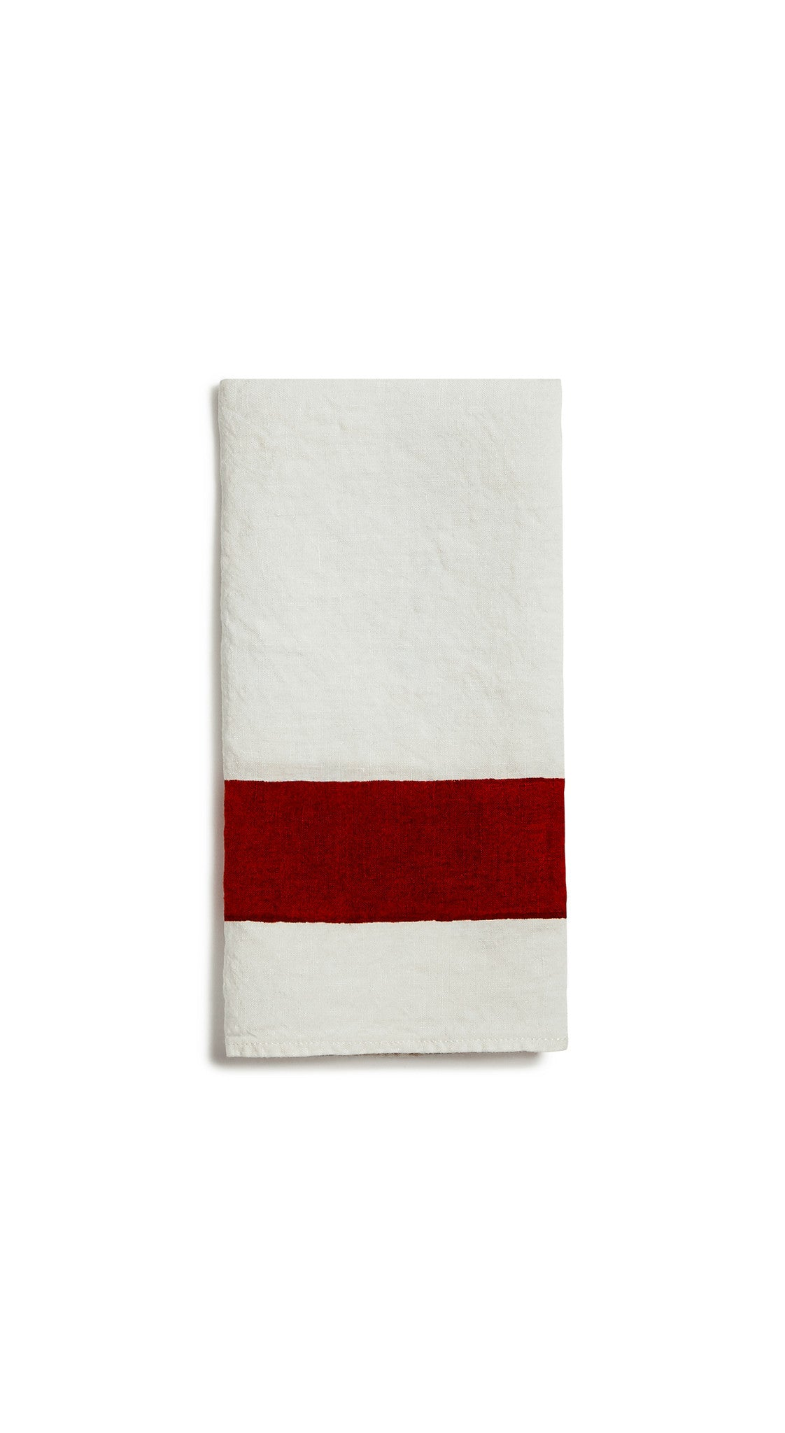 Cornice Linen Napkin in Claret Red