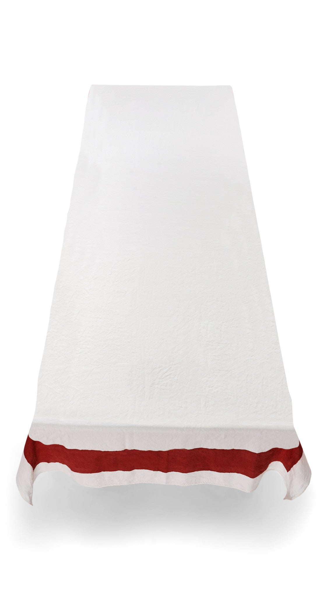 Cornice Linen Tablecloth in Claret Red
