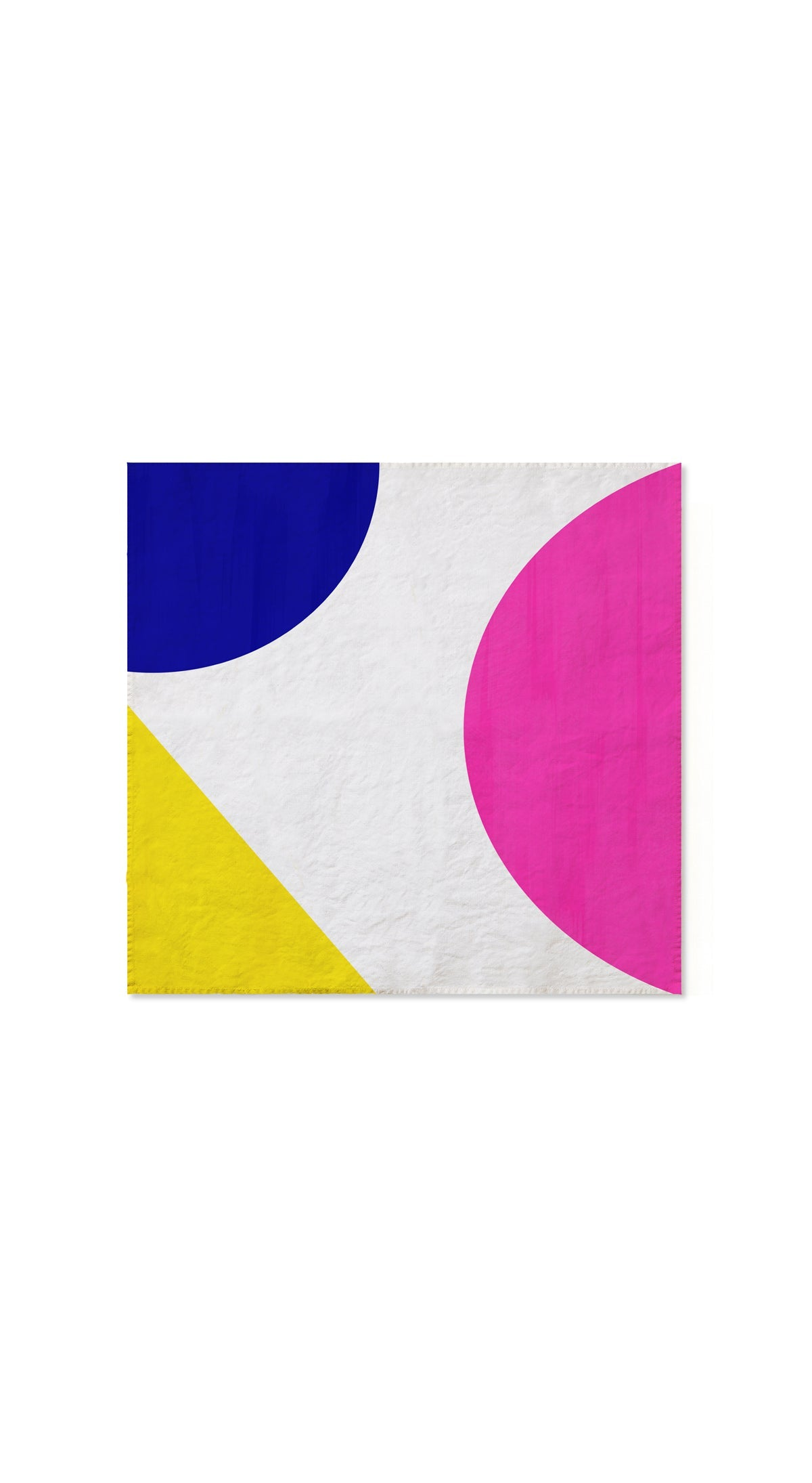 S&B x The River Cafe Linen Napkins in Blue, Pink & Yellow, Set of Two