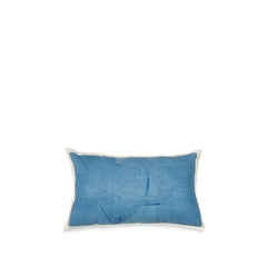 Hand Painted Linen Cushion in Sky Blue, 50cm x 30cm