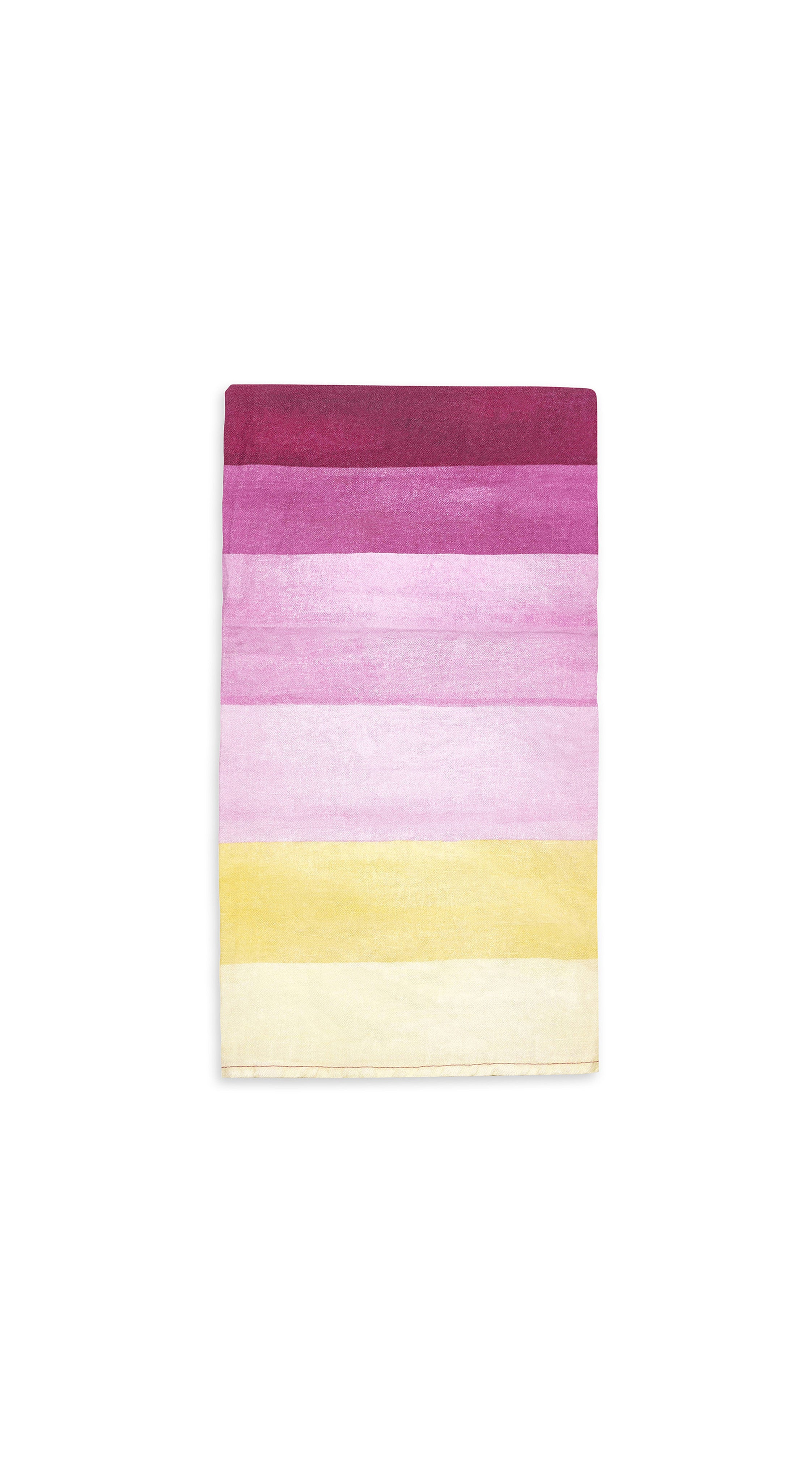 Shades Of Pink Striped Linen Napkin