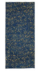 Splatter Linen Tablecloth in Midnight Blue with Gold
