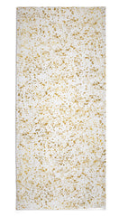 Splatter Linen Tablecloth in White & Gold