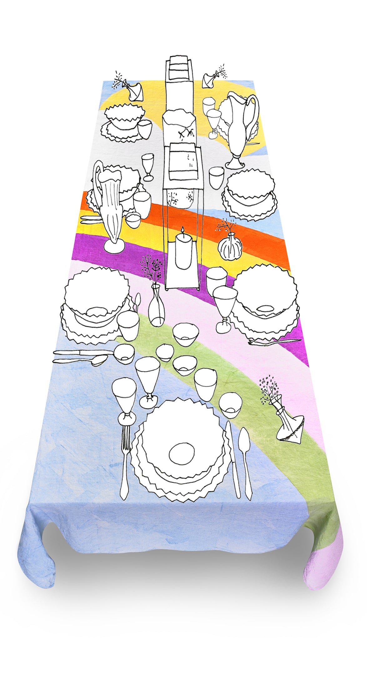 Day Linen Tablecloth in Multicolours