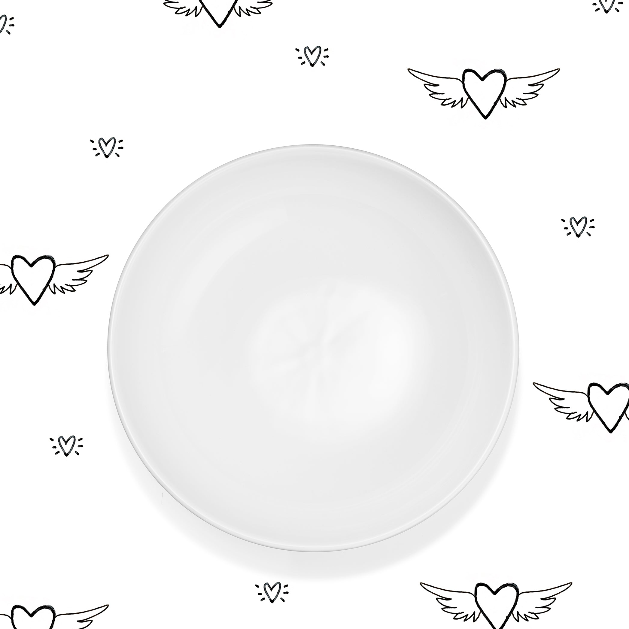 S&B Plain White Ceramic Serving Bowl, 30cm