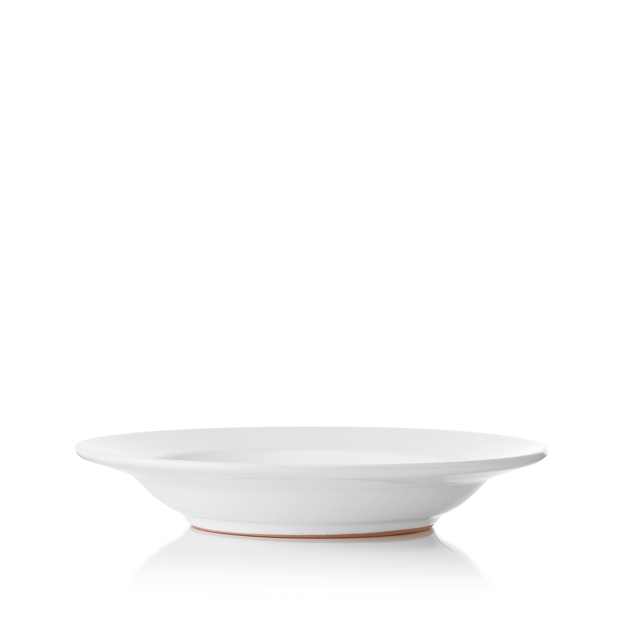 S&B Plain White Rimmed Ceramic Pasta Bowl, 24cm