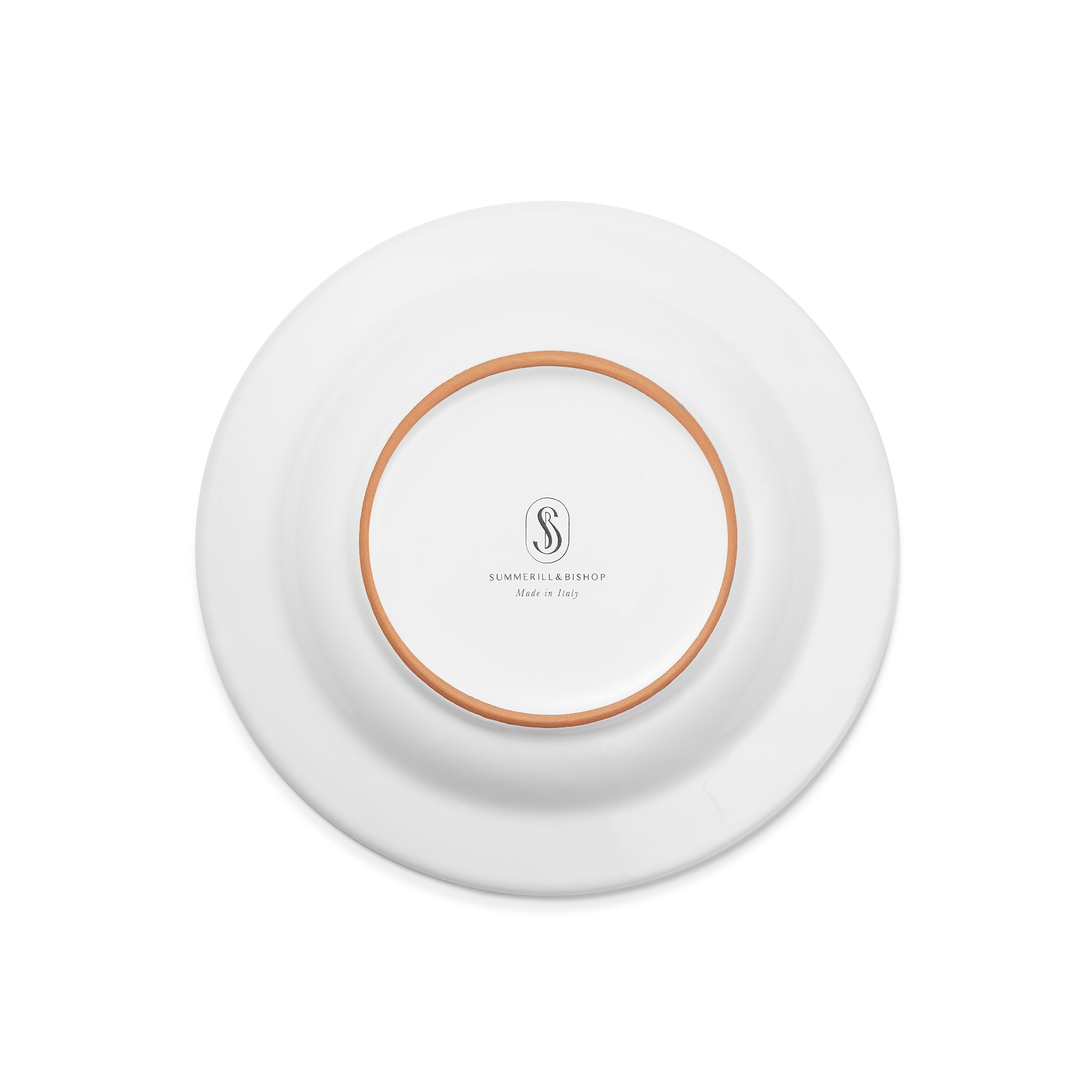 S&B Plain White Rimmed Ceramic Side Plate, 21cm