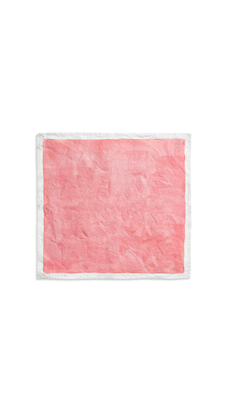 Full Field Linen Napkin in Coral Pink