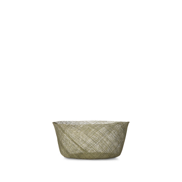 Abaca Round Bread Basket in Sage