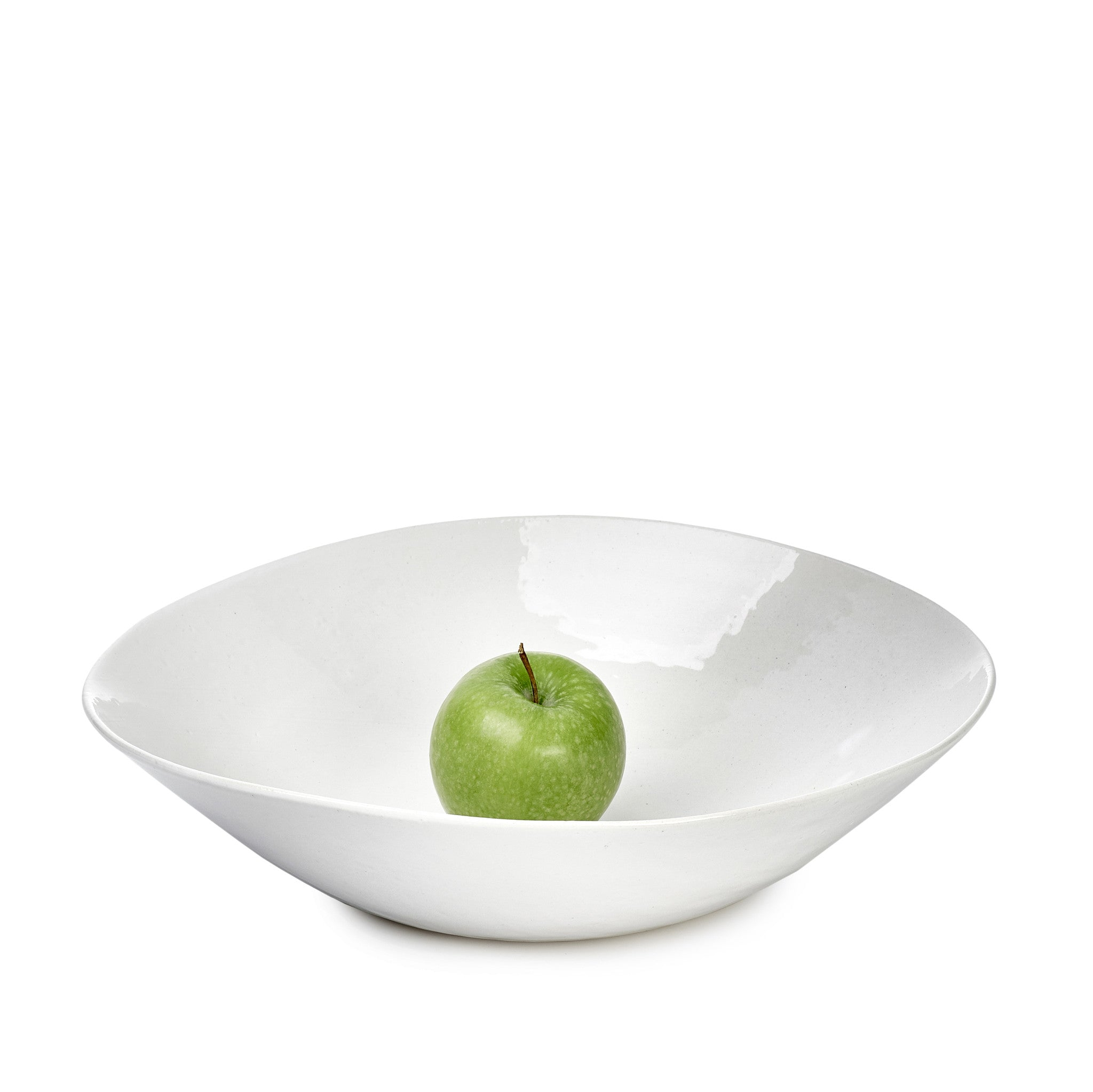 Wonki Ware Salad Bowl in White, 37cm