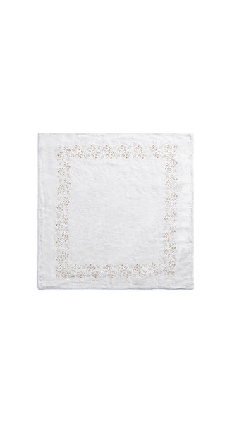 Bernadette's Framed Flower Linen Napkin in Mustard Yellow