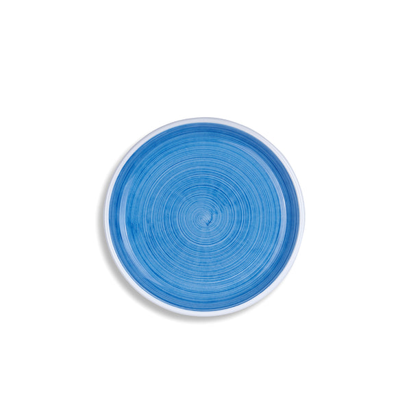 S&B 'Brushed' Ceramic Side Plate in Light Blue, 21cm