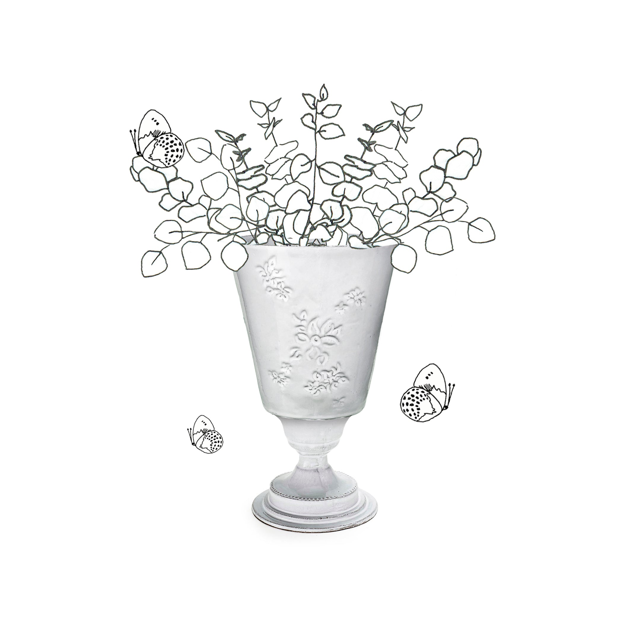 Astier de Villatte x Summerill & Bishop Petit Vase with Falling Flower