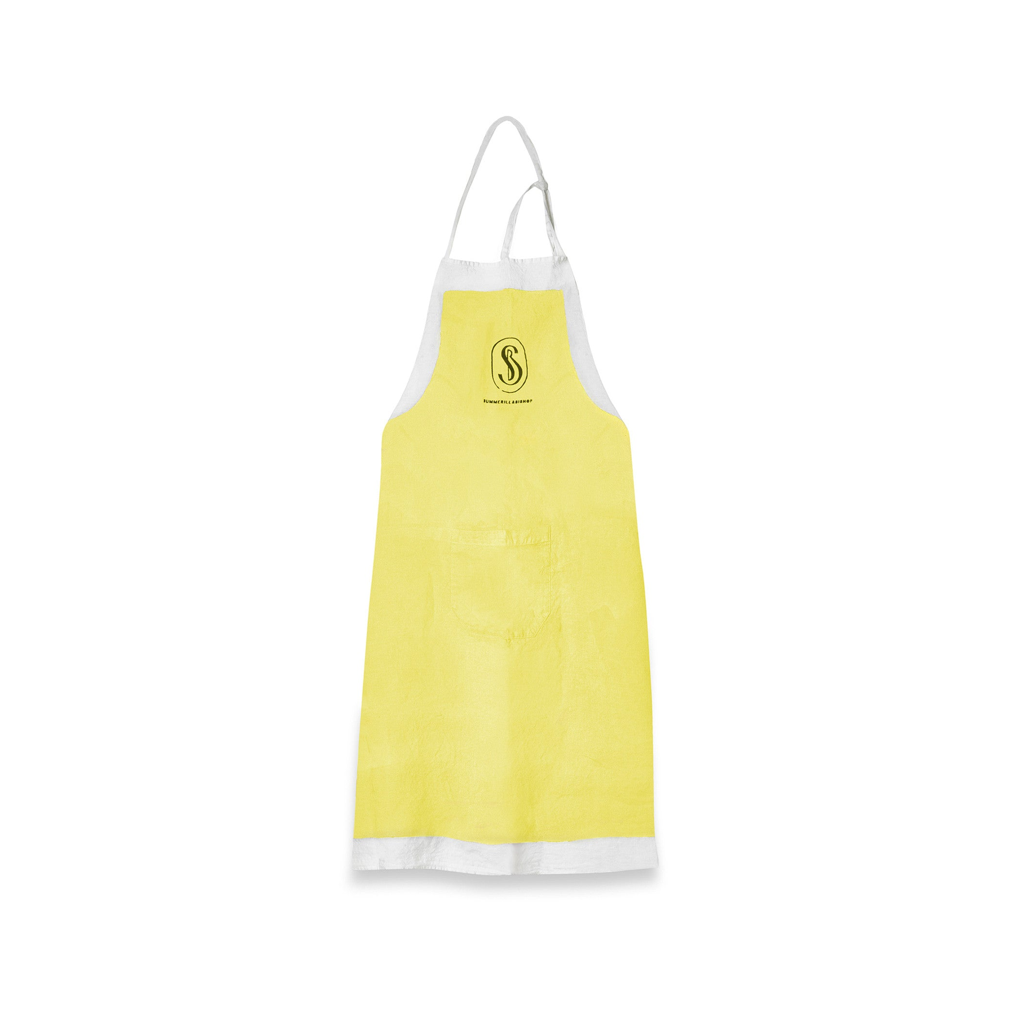 Standard Linen Apron in Lemon Yellow