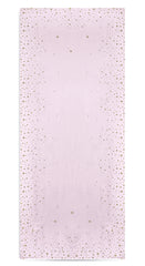 Falling Stars Linen Tablecloth in Pale Pink with Gold Stars