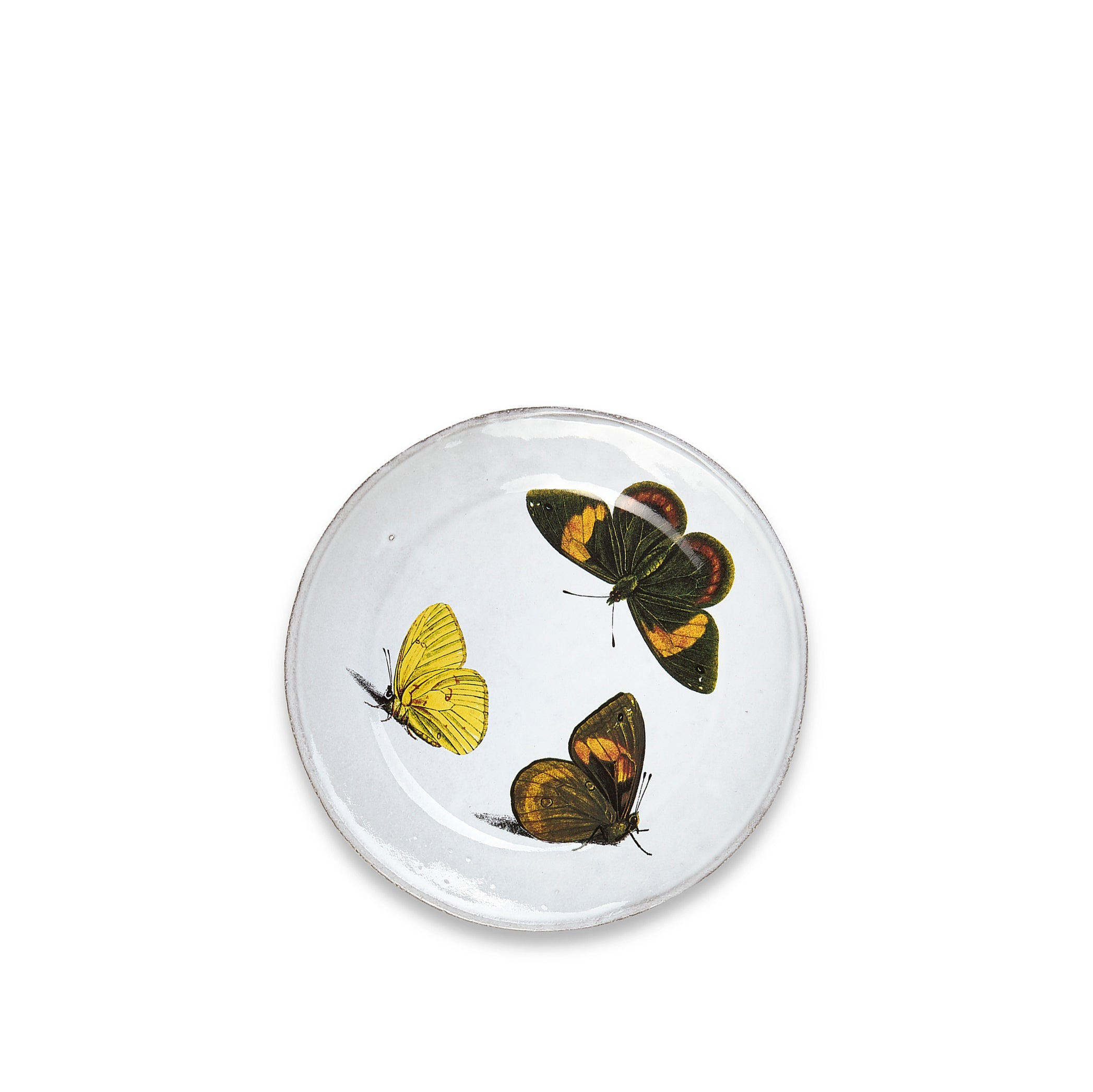 Three Butterflies Plate by Astier de Villatte